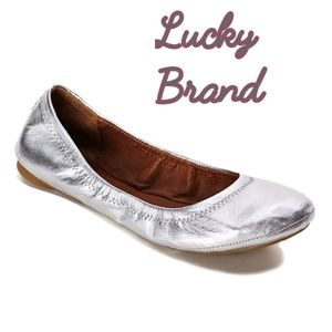 Lucky Brand Shoes - LUCKY BRAND SILVER EMMIE BALLET FLAT